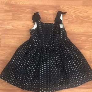 Beautiful black and white eyelet girls party dress
